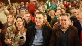 Susana Díaz, Pedro Sánchez y Juan Espadas en una imagen de archivo.