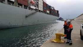 Uno de los dos buques confinados. EE