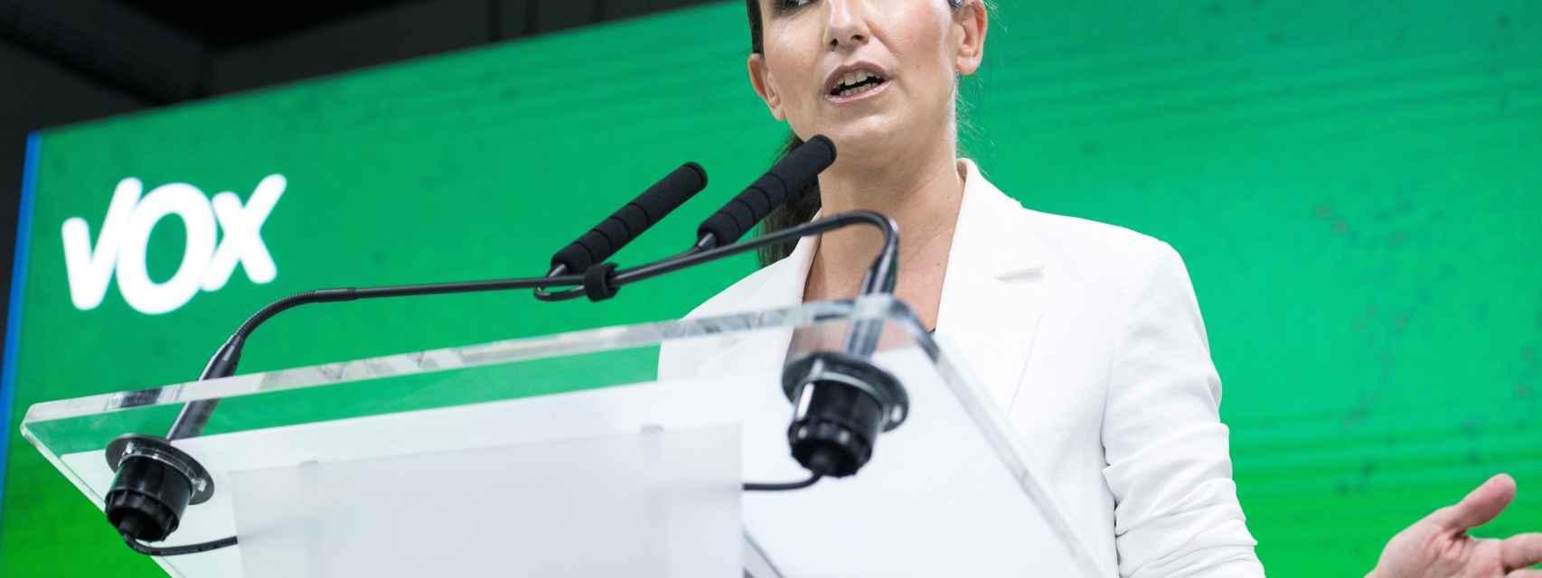 La candidata de Vox a la presidencia de la Comunidad de Madrid, Rocio Monasterio