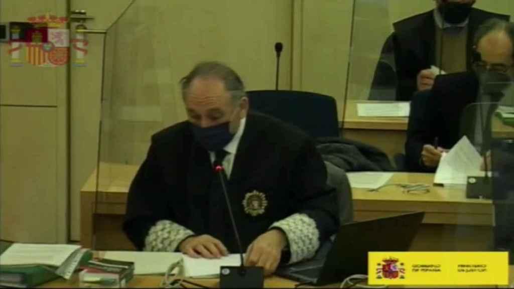 Antonio Romeral, en una imagen del juicio de Bárcenas./
