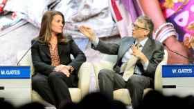 Bill y Melinda Gates en Davos en 2015.