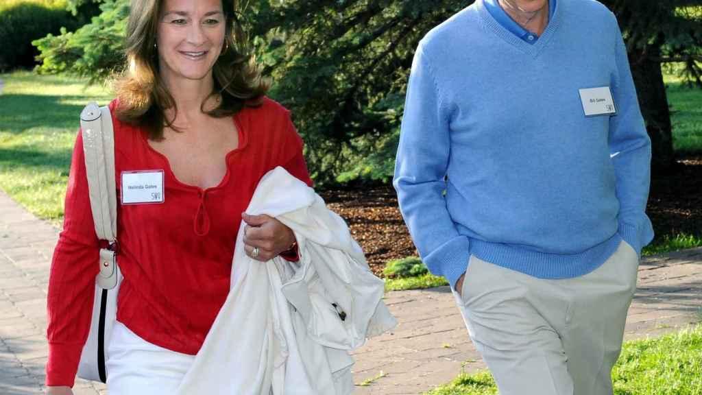 Bill y Melinda Gates antes de impartir una conferencia en Sun Valley (Idaho) en 2009.