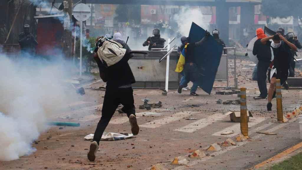 Las protestas en Colombia.