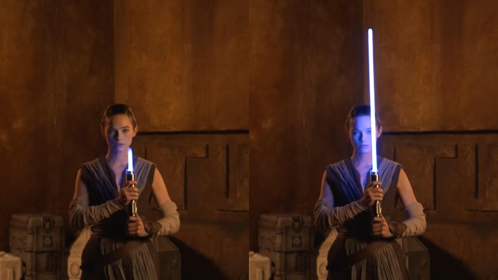El sable de luz de Star Wars se hace realidad: se extiende como el de las películas —