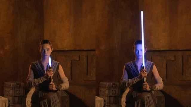 El sable de luz de Star Wars