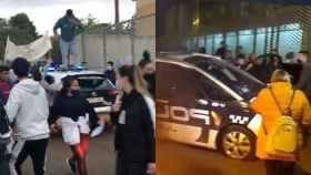 Imágenes de los actos vandálicos que se produjeron este lunes en Jumilla.