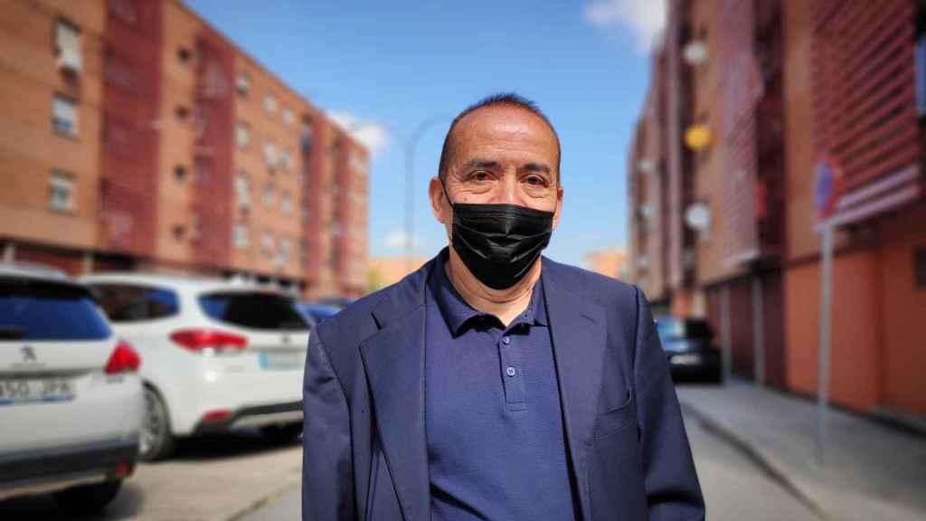 Orlando Vargas, vecino de Vallecas y votante de Gabilondo.