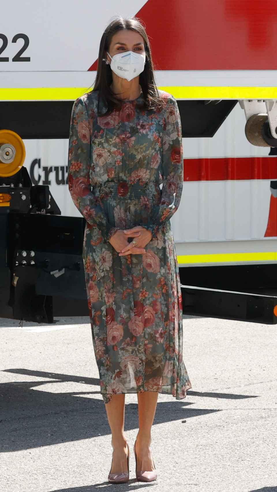 El 'outfit' que ha escogido la Reina para su acto de este miércoles.
