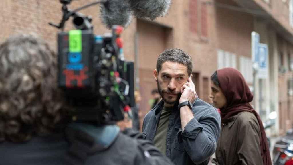 Michel Noher en el rodaje de 'La Unidad'.