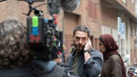 Michel Noher en el rodaje de la serie 'La unidad'.