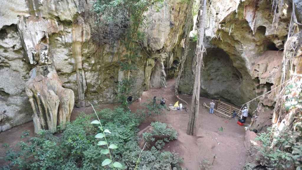 El niño de 3 años de edad fue enterrado en la entrada de la cueva de Panga ya Saidi (Kenia).