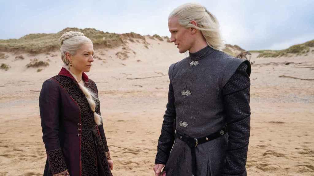 Emma D'Arcy y Matt Smith en 'La casa del dragón'.