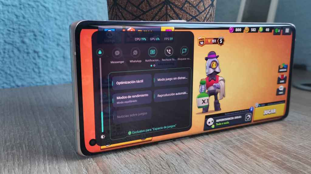 Modo juego en Oppo Find X3 Neo
