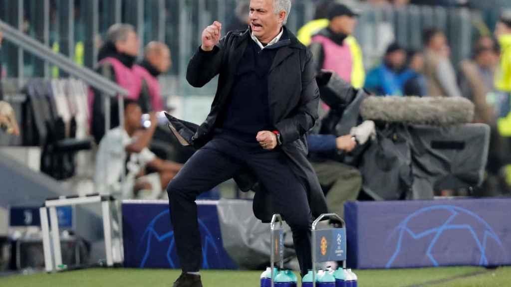 José Mourinho, durante un partido de la Champions League