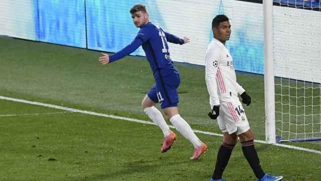 Casemiro se lamenta tras el gol de Werner en el Chelsea - Real Madrid