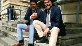 El presidente de la Diputación y el alcalde de Alicante, sellando su alianza en 2019.