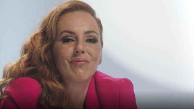 Rocío Carrasco durante la grabación del episodio 9 de 'Rocío: contar la verdad para seguir viva'.