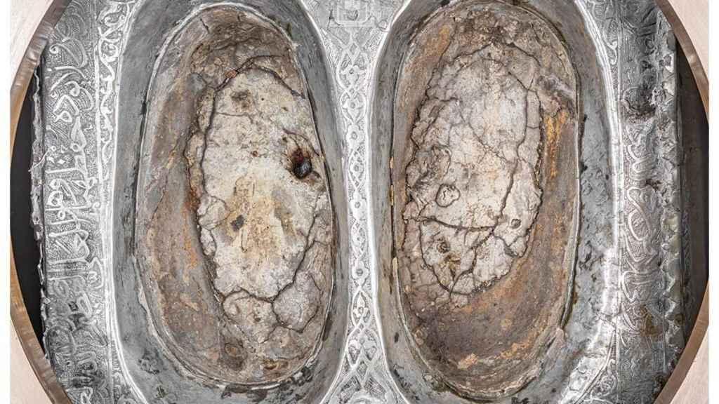 Las supuestas dos huellas del profeta Abraham.