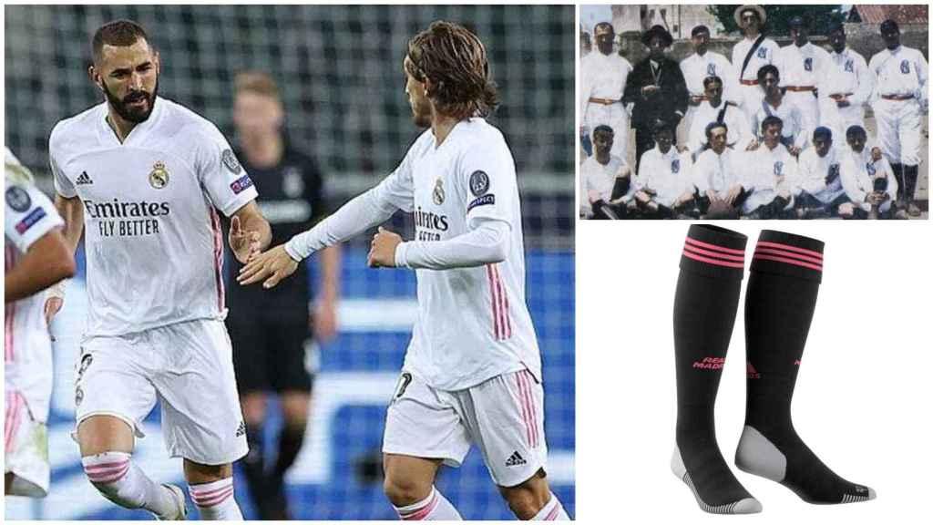 El Real Madrid, de blanco y con medias negras ante el Chelsea