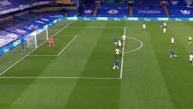 Fuera de juego de Timo Werner que provocó que su gol fuera anulado