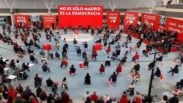 Una imagen durante la celebración del acto del PSOE en Getafe.