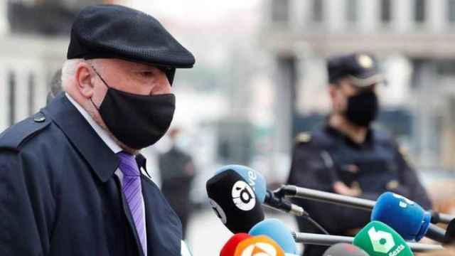 El excomisario Villarejo, a su salida de la cárcel el pasado 3 de marzo./