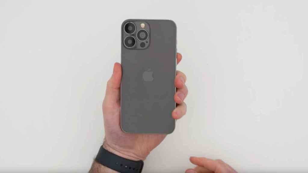 Una maqueta del iPhone 13 Pro Max