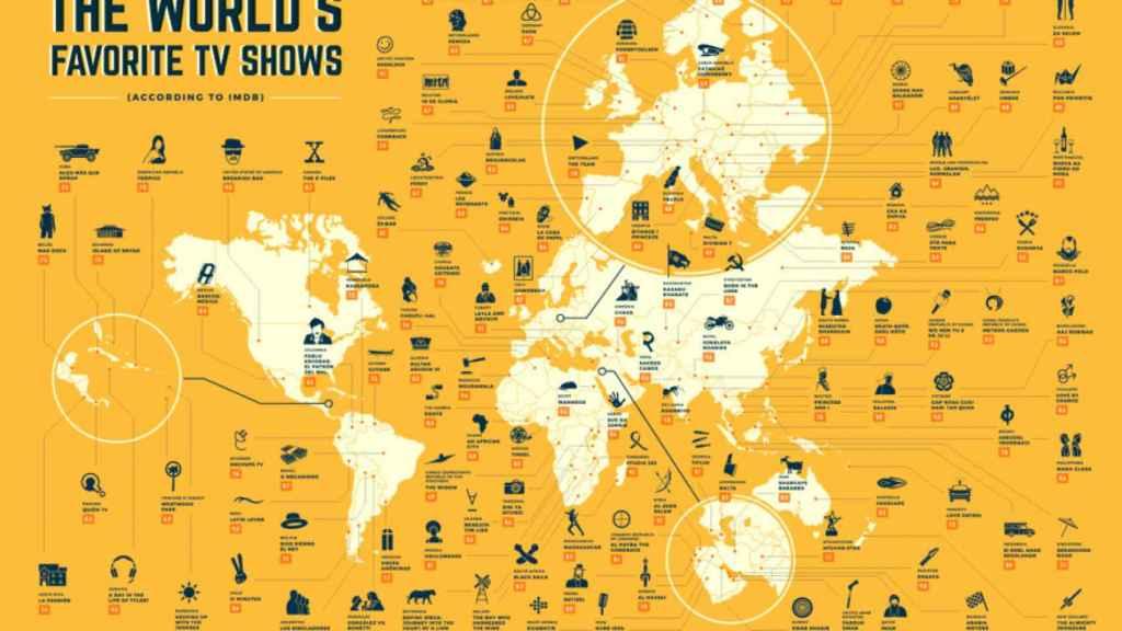 Mapa con todas las series elegidas en cada país.