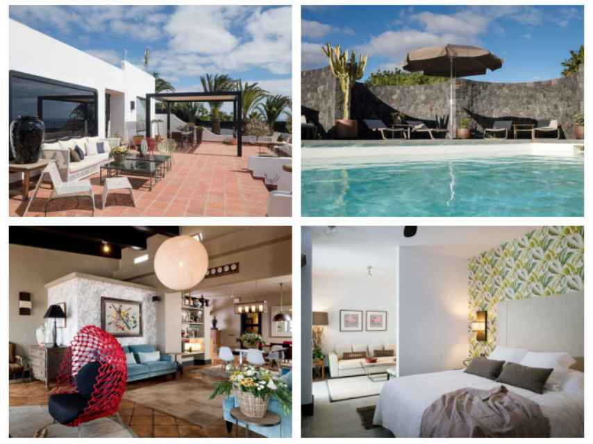 Algunos de los rincones de '5Suites', la lujosa casa que ha escogido Helen Lindes para disfrutar de su Lanzarote.