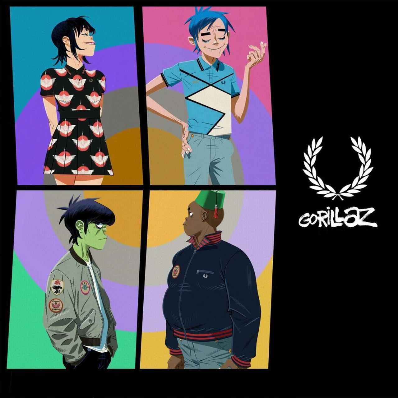 Some of the Fred Perry x Gorillaz creations.