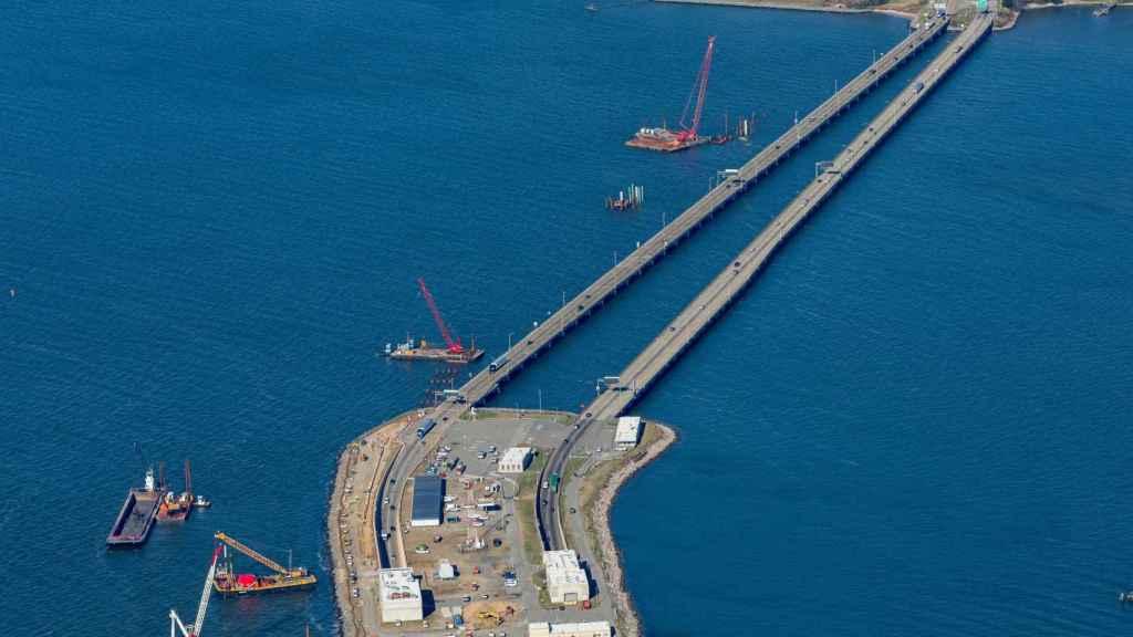 Imagen del viaducto en la I-64 Hampton Roads que construye ACS.