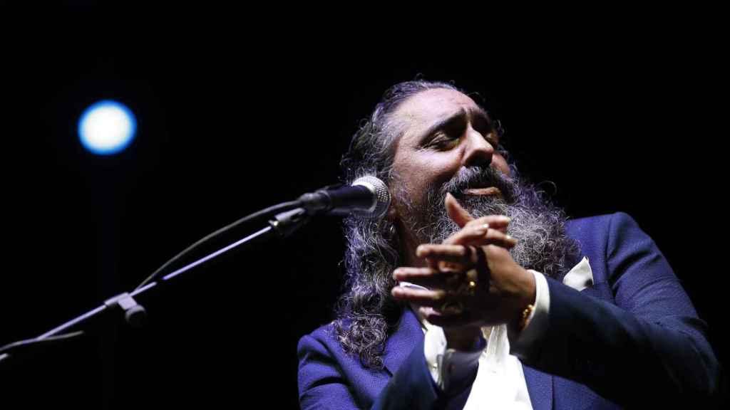 'El Cigala' durante uno de sus recitales.