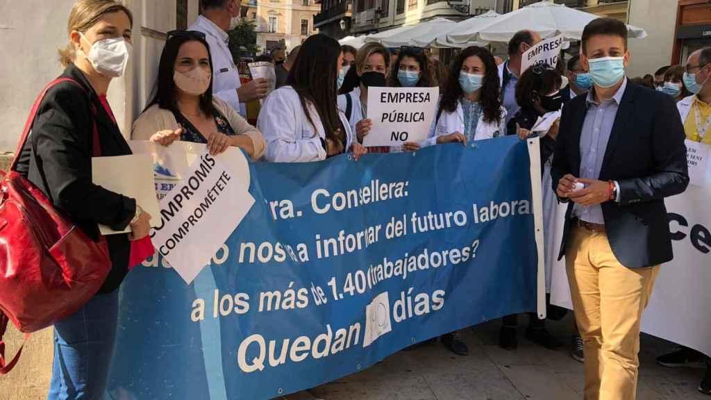 Imagen de la protesta. EE