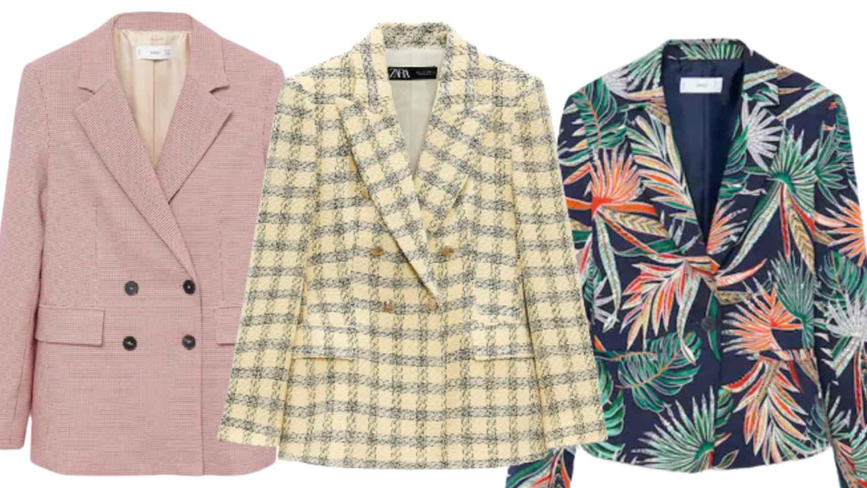 Tres 'blazers' tendencia en esta temporada en un montaje de JALEOS.