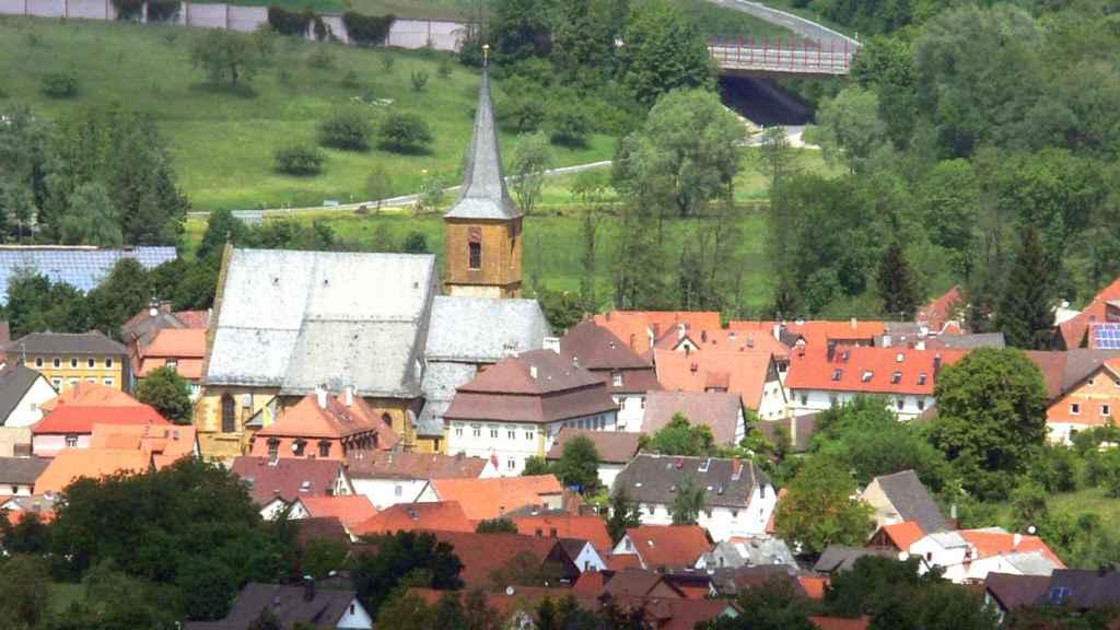 El pueblo alemán de Scheßlitz, en Baviera.