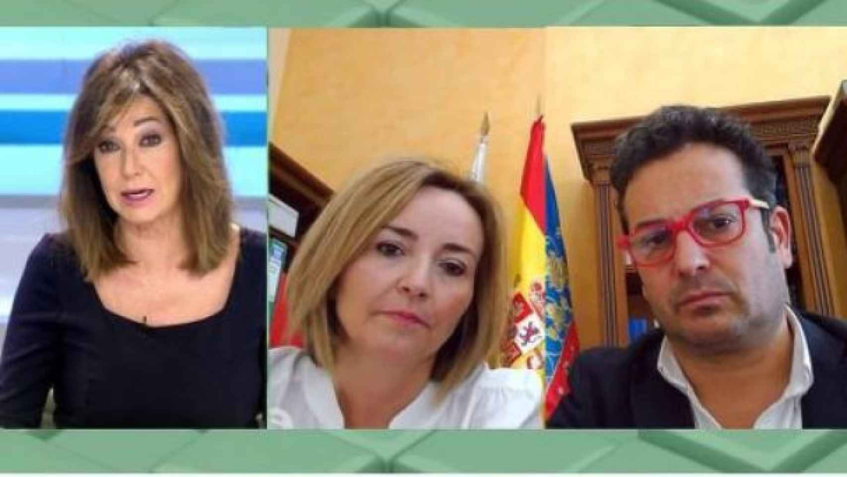 Dos de los alcaldes alicantinos vacunados, en el programa de Ana Rosa.
