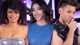 Brequette Cassie, Claudia Ula y Javián en montaje de BLUPER.