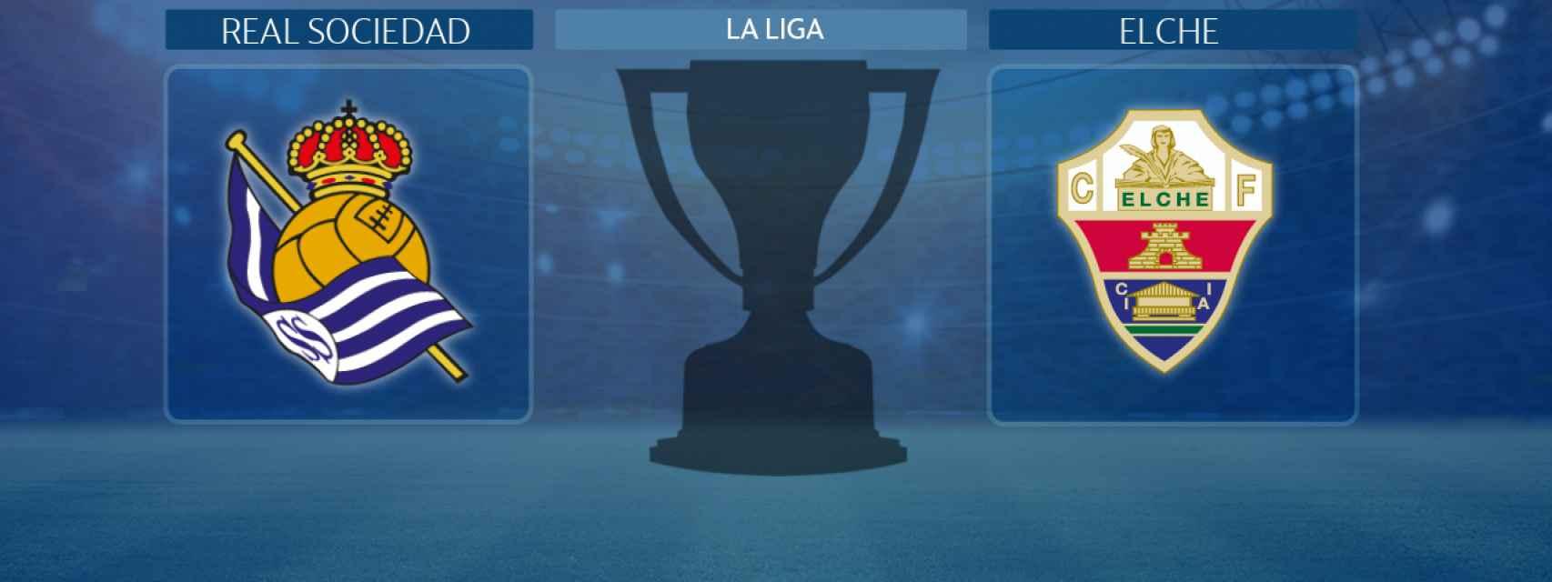 Real Sociedad - Elche, partido de la La Liga