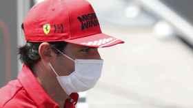 Carlos Sainz en el Gran Premio de España