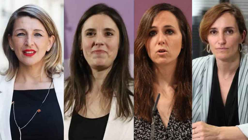 Yolanda Díaz, Irene Montero, Ione Belarra y Mónica García.