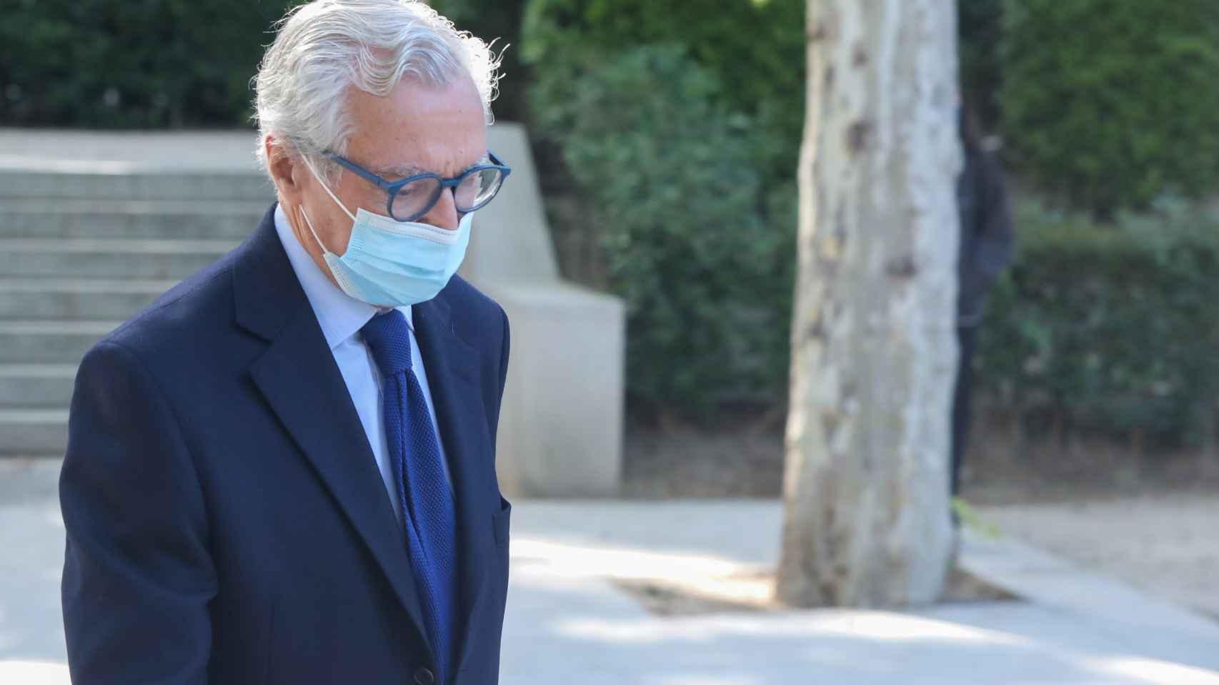 Luis Suárez de Lezo, este jueves a su salida de la Audiencia Nacional./