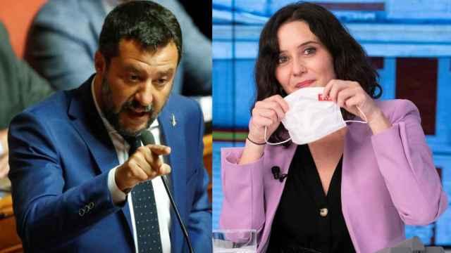 Matteo Salvini e Isabel Díaz Ayuso.