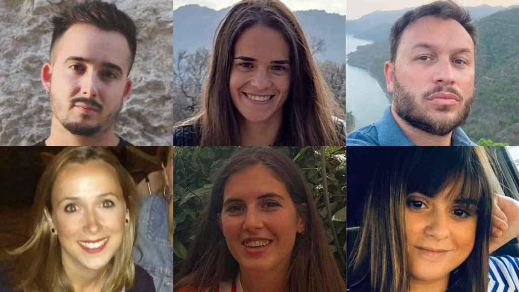 Álvaro, Belén, José, Gabriela, Ángeles y Adriana.