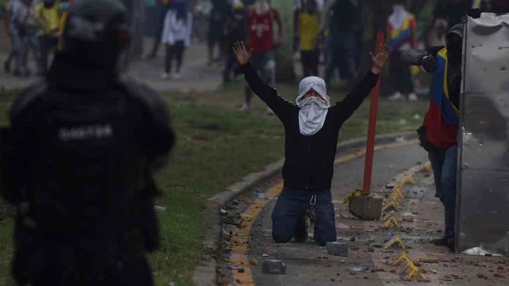 Las protestas en Cali.