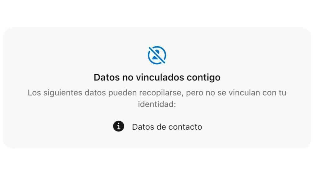 Etiqueta de privacidad de la app Signal en App Store