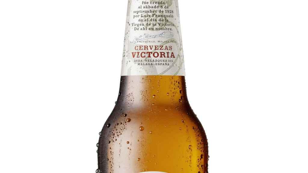 Etiqueta de Cervezas Victoria.