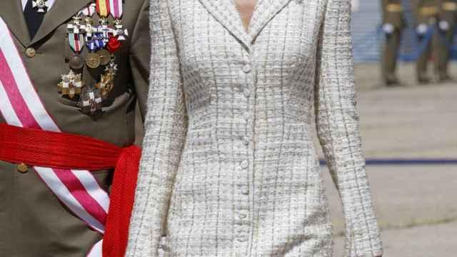La reina Letizia llegando a su último acto de la semana.
