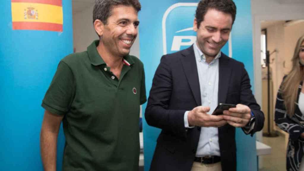 Carlos Mazón con Teodoro García Egea.