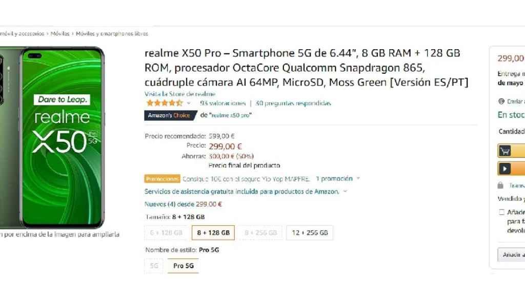 realme X50 Pro Amazon