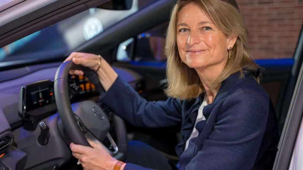 La directora de Volkswagen España, en la presentación de uno de sus nuevos modelos.